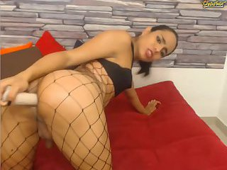 Webcam sexy latina anal dildo
