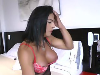 Sexy black tranny twerking in heels and fishnets