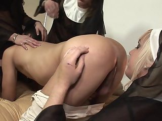 Guy dommanited by nuns