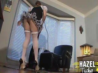 Hazel Tucker in Maid Uniform Strips