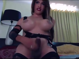 Big Cock Big Boobs TS Laura On Cam