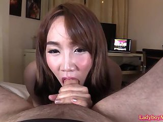 Ladyboy Grace Blowjob and Frottage