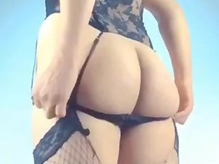 Big fat ass curvy Arabic ladyboy