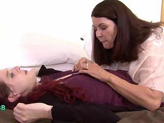 MILF teacher seduces her TS student