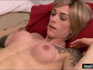Big boobs tranny gets her anal screwed