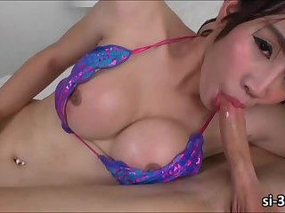 Lovely Thai Tgirl Grace gets her ass pounded and facialed