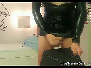 HUGE Cock TS Unloads CUM