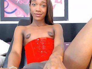 Sexy ebony ts Sarah