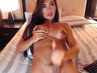 Very Beautiful Latin TGirl Sahara cumshot