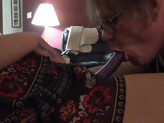 sissyCD Tonia sucking Mistress strapon
