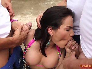 Shemale Milagros Bejarano Gangbang