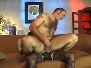 Black tranny fucks guy
