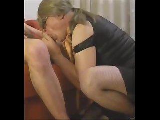 Lara CD sucking and licking ass