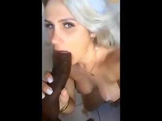 Shemale Loves Sucking Black Cock