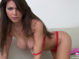 Red Panties and a hard on