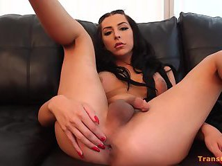 Shemale Chanel Santini Interracial Anal