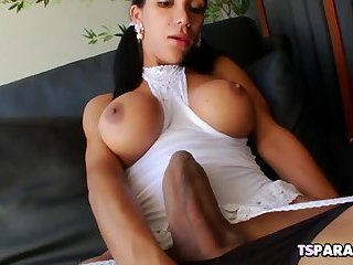Hot Tgirl Sabrina Suzuki Shows Off Her Huge Cock