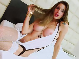 Pretty transgender Stefany rides her boyfriends massive dick