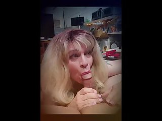 Sucking Master Tonys throbbing hard cock and eating his creamy load