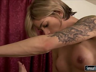 Hot tgirl fucked mature on massage table