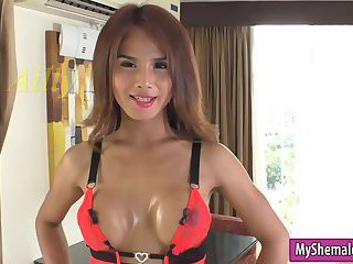 Sexy ladyboy Ailly anal fucked bareback