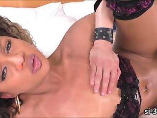Extremely feminine Latina TS Yanka Meirelles gets ass ripped