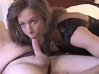 Shooting Deep into Hot and Sexy Crossdresser