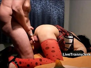 Crossdresser Bitch Slammed Deep and Hard