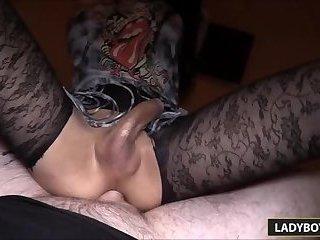 Hot Thai Ladyboy Alice Anal Cowgirl