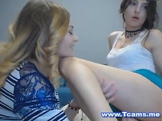 Cute Blonde Female Slurps Tranny Cock
