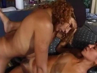 Shemale with pink shaft fucking girl
