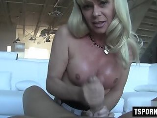 Hot shemale pov with cumshot