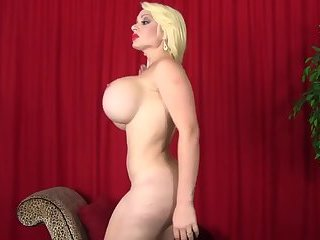Explosive shemale blonde with big boobs and big ass