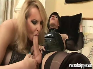 TV Zoe and shemale slut go crazy for cock and anal action before spunking loads