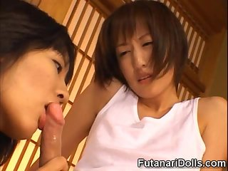 Futanari and Girl Making Love
