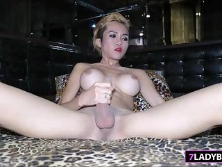 Ladyboy Dow Masturbation And Shower