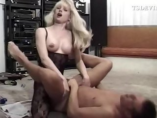 Husband gets fucked by her T-wife