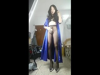 Chinese CD in pantyhose