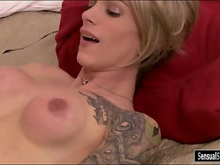 Slim busty shemale Nina Lawless analyzed