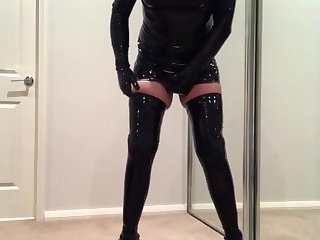 Latex sissy bitch 2