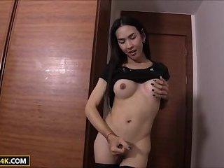 Sexy Thai Ladyboy Nita POV Bareback