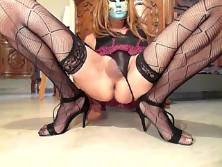 Sissy Showing Her Big Prolapse