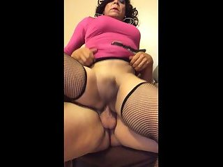 Riding cock BB with creampie explosion