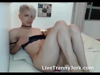 Blonde Shemale Orgasm