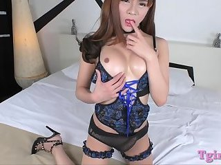 Busty ladyboy Plam nailed in the ass hole