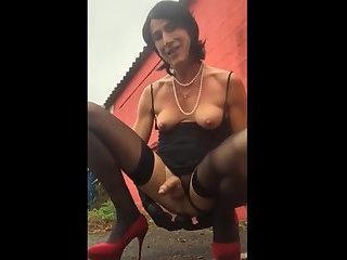 Hot Sissy Toying On Cam Outdoor