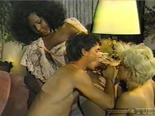 Vintage Ebony TS In Threesome
