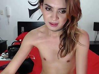 Femboy Carla enjoys a taste of her cum