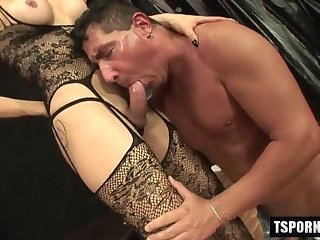 Hot shemale hardcore with facial