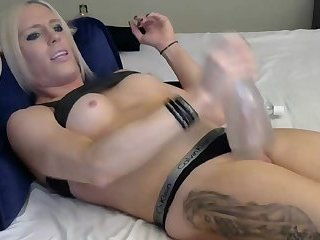 Blonde Toying herself
